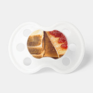 Toasted slices of bread with strawberry jam dummy