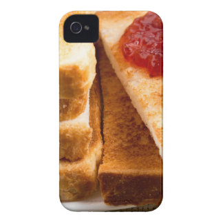 Toasted slices of bread with strawberry jam iPhone 4 covers