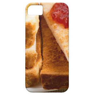 Toasted slices of bread with strawberry jam iPhone 5 cover