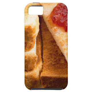 Toasted slices of bread with strawberry jam iPhone 5 covers