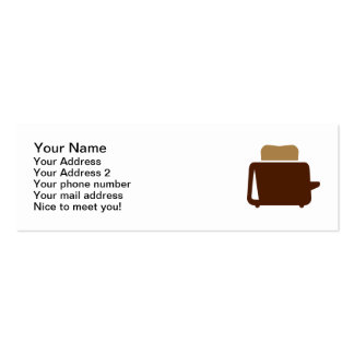 Toaster Business Card Templates
