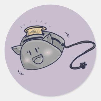 Toaster Cat! Round Sticker