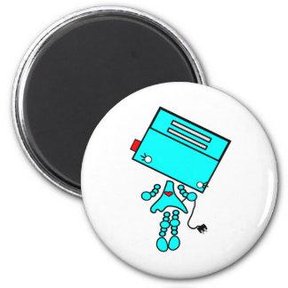 Toaster girl 6 cm round magnet