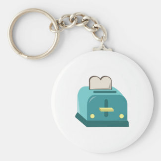 Toaster Basic Round Button Key Ring