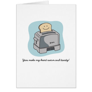 Toaster Love Greeting Card - Blue