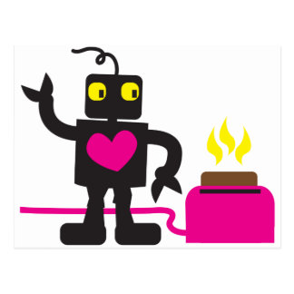 toaster love post card