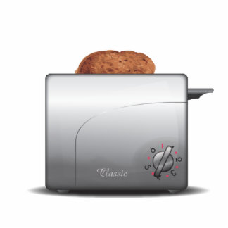 Toaster Photo Sculpture Key Ring