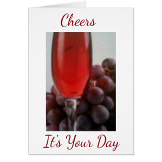 TOASTING a **SPECIAL PERSON** ON A SPECIAL DAY Card