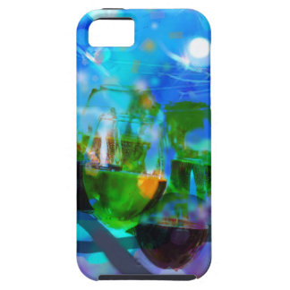 Toasting glasses and music notes. iPhone 5 cases