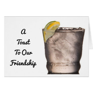 """TOASTING """"OUR FRIENDSHIP"""" AT CHRISTMAS CARD"""