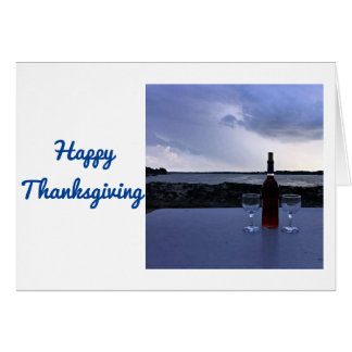 """TOASTING """"OUR FRIENDSHIP"""" AT THANKSGIVING CARD"""