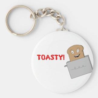 Toasty Basic Round Button Key Ring