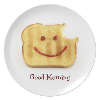 Toasty Good Morning Greeting Plate