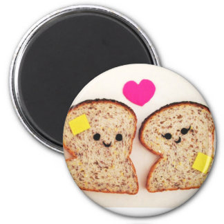 Toasty Love 6 Cm Round Magnet