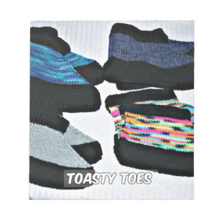 toasty toes handknit slippers notepads
