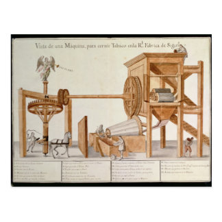 Tobacco Sieving Machine from the Royal Tobacco Postcard