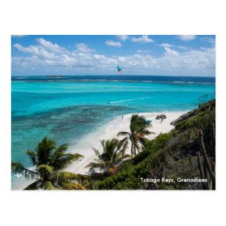 Tobago Keys, Grenadines Postcard