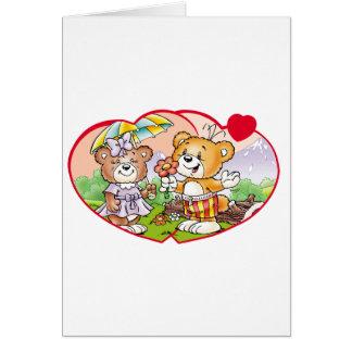 Tobi Teddy Bear Would you be my valentine? Card