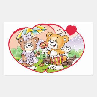 Tobi Teddy Bear Would you be my valentine? Rectangular Sticker