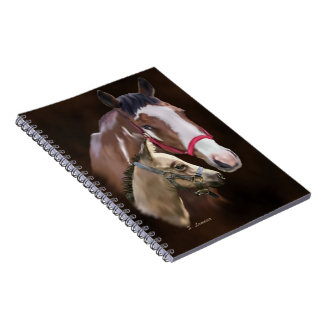 Tobiano Paint Mare and Foal Notebook