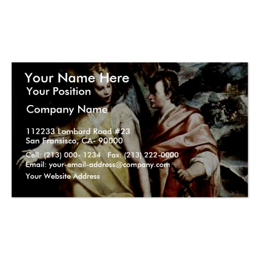 Tobias And The Angel By Motta Raffaello Business Cards