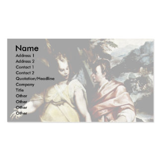 Tobias And The Angel By Motta Raffaello Business Card Template