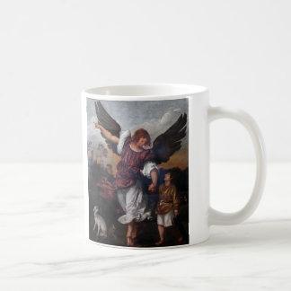 Tobias and the Archangel Raphael  - Titian Coffee Mug