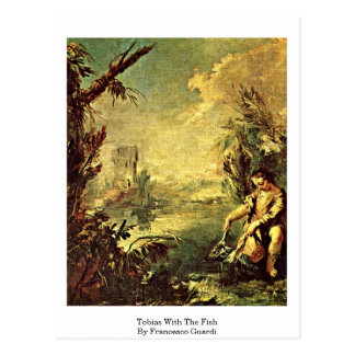 Tobias With The Fish By Francesco Guardi Postcard