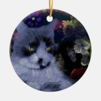Toby Cat/The General Ceramic Ornament