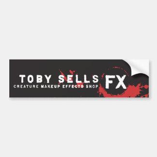 Toby Sells Creature Makeup FX Shop Bumper Sticker