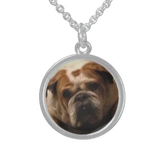 Toby the Bulldog necklace round