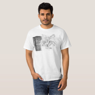 Toby the Cat - Black and White T-Shirt