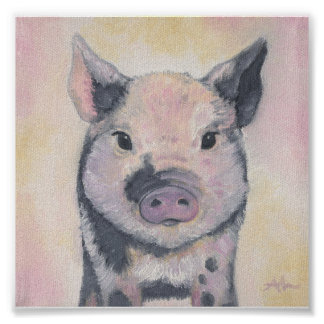 Toby the Piglet art print poster
