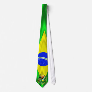 Toco Toucan with Brazil Flag Tie