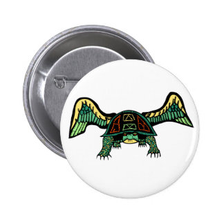 Todash Turtle with Wings 6 Cm Round Badge