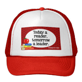Today A Reader Tomorrow A Leader Red Polka Dots Trucker Hats