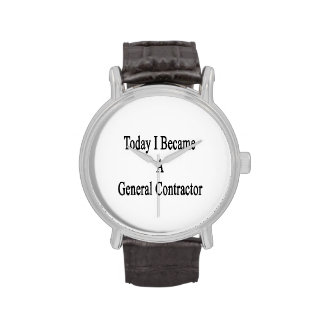 Today I Became A General Contractor Wristwatch