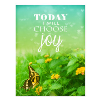 Today I Choose Joy Postcard