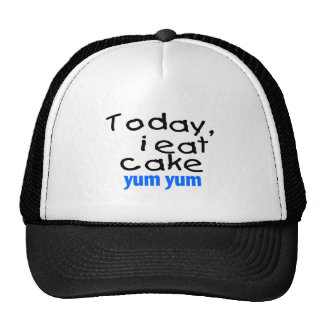 Today I Eat Cake Yum Yum (blue) Cap