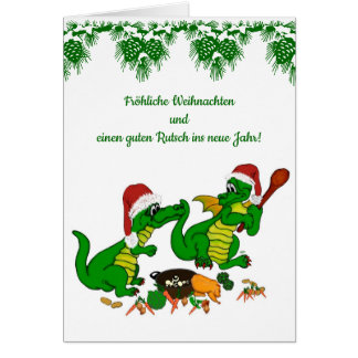, Today I will cook Christmas dragon Card