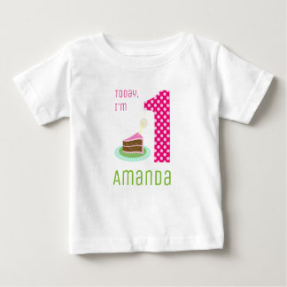 Today I'm 1 Birthday Cake Baby T-Shirt