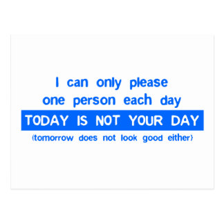 Today is a bad day for you postcard