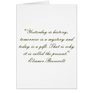 Today is a gift blank note card