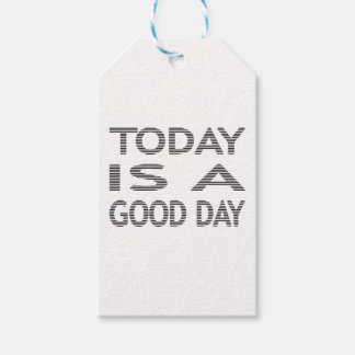 Today is a good day - strips - black and white. gift tags