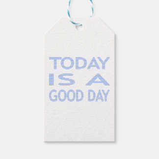 Today is a good day - strips - blue and white. gift tags