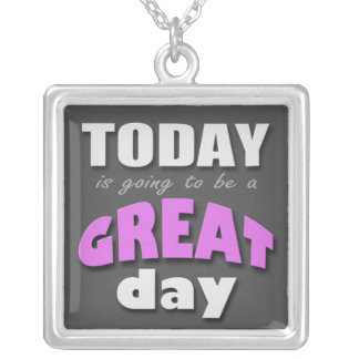Today is Going to Be a Great Day - Purple Necklace