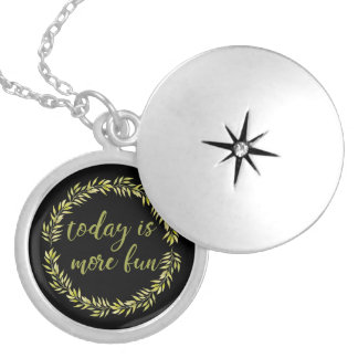 """""""Today is more fun"""" encouraging necklace for moms"""