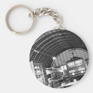 """Today of the world art Akagi military officer Basic Round Button Key Ring"