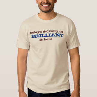 today's delivery of brilliant is here t-shirts