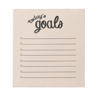TODAY'S GOALS Notepad